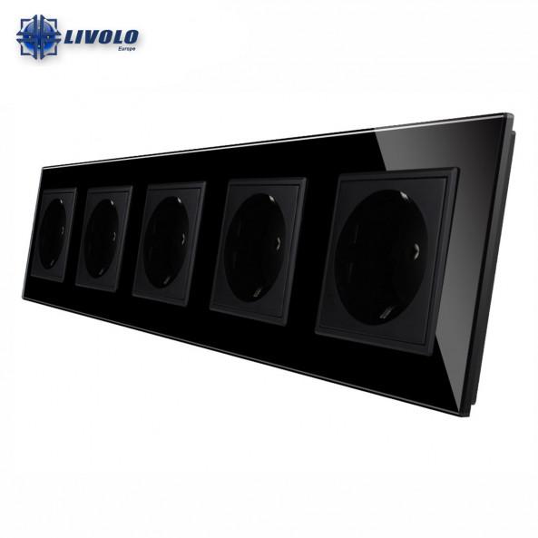 Livolo Wall Power Quintuple Sockets