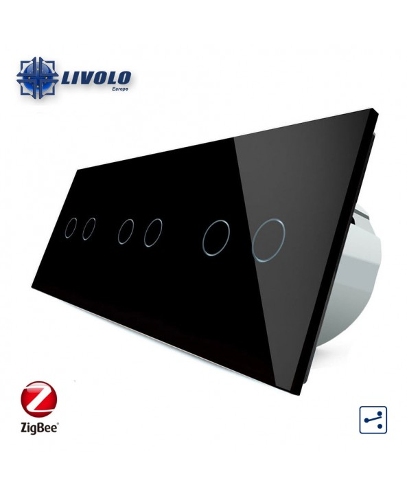 Livolo Triple 2-2-2 Gang - 2 ways - ZigBee