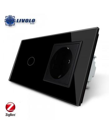 Livolo 1 Gang + Socket - ZigBee