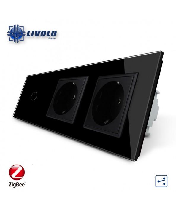 Livolo 1 Gang 2 Way + 2 Sockets - ZigBee