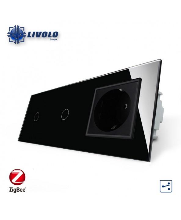 Livolo 1-1 Gang 2 Way + Socket - ZigBee