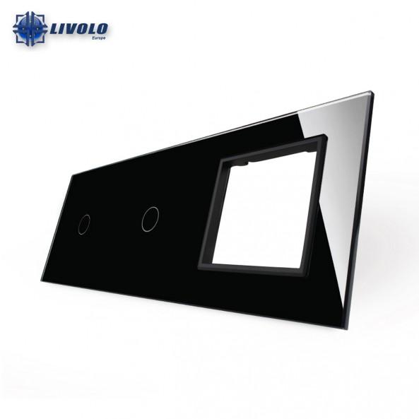 Livolo Triple Crystal Panel 1-1-S