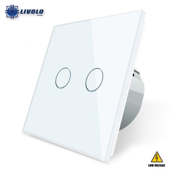 Livolo 2 Gang - 1 Way (Low Voltage)