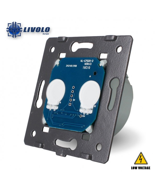 Livolo 2 Gang - 1 Way Module (Low Voltage)