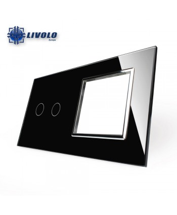 Livolo 2 Gang + Socket Panel