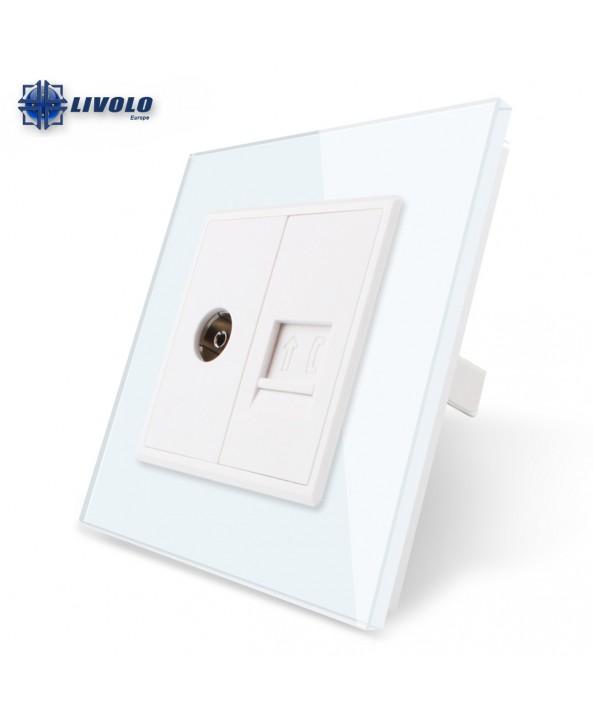 Double TV / TEL - Socket