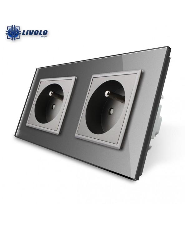 Livolo Wall Power Double French Socket