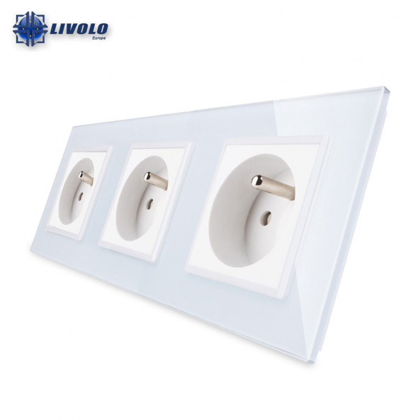 Livolo Wall Power Triple French Sockets