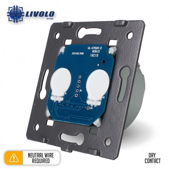 Livolo 2 Gang - 1 Way Module (Dry Contact)