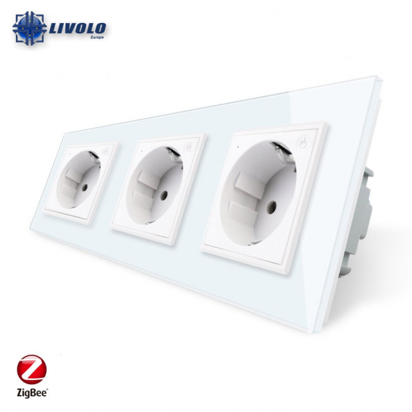 Livolo Wall Power Triple Sockets / Smart Zigbee