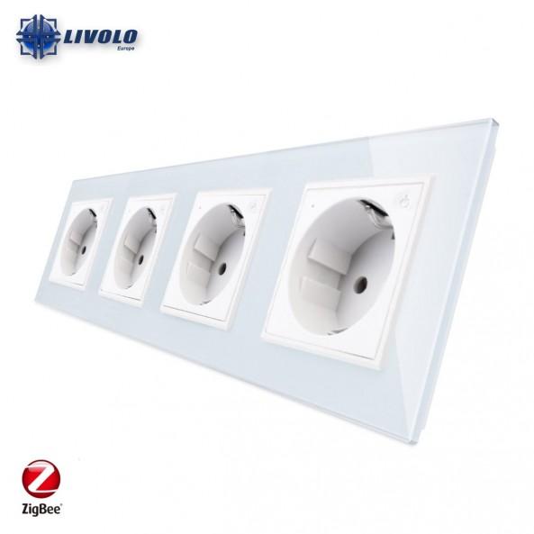 Livolo Wall Power Quadruple Sockets / Smart Zigbee