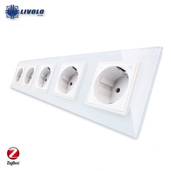 Livolo Wall Power Quintuple Sockets / Smart Zigbee
