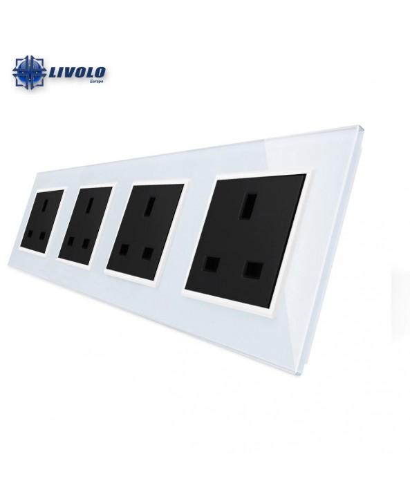 Livolo Wall Power Quadruple UK Sockets