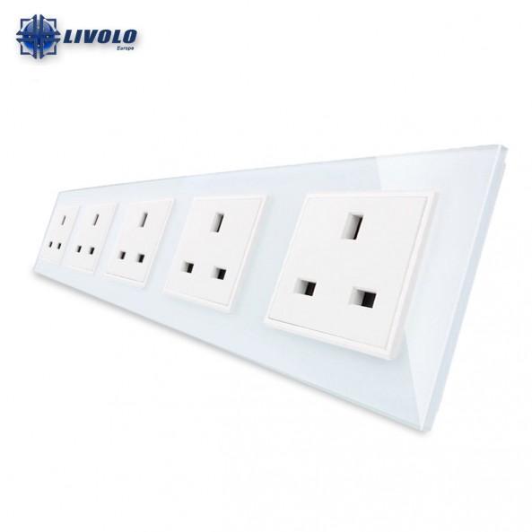 Livolo Wall Power Quintuple UK Sockets
