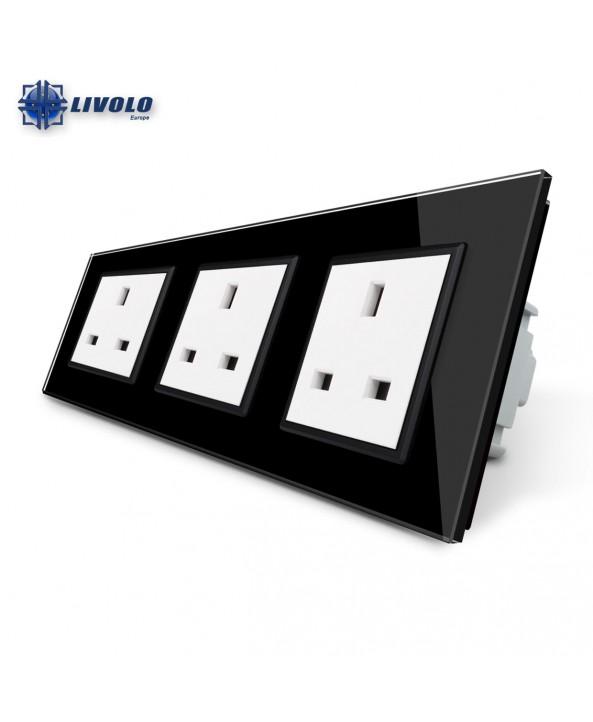 Livolo Wall Power Triple UK Sockets