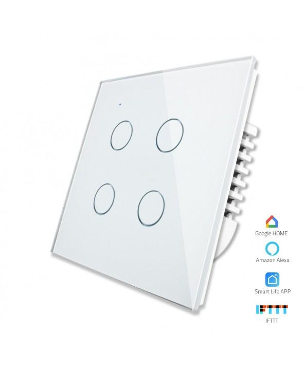 4 Gang - 1/2 Way | Wifi Smart Switch